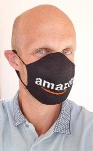 UK Made Washable Woven Branded Face Masks