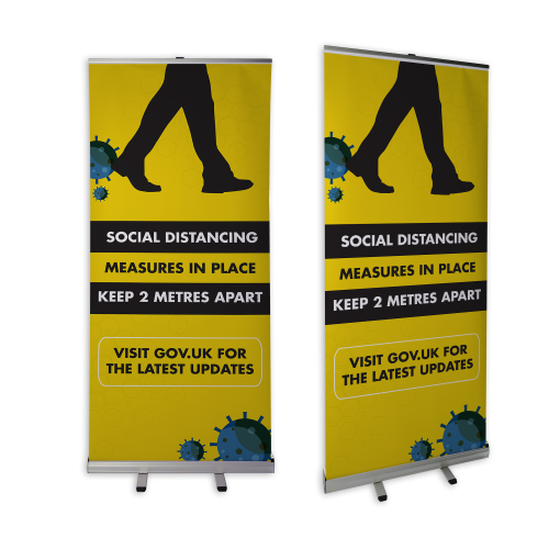 Branded pull up banner