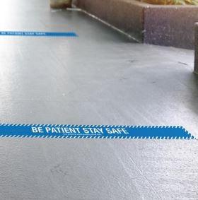 Self-adhesive floor vinyl strip